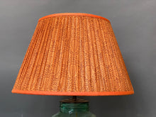 Load image into Gallery viewer, Burnt orange paisley silk lampshade