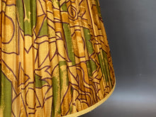 Load image into Gallery viewer, Yellow ochre geometric silk lampshade