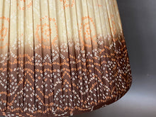 Load image into Gallery viewer, Stone brown and coral bandani silk lampshade