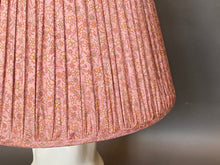 Load image into Gallery viewer, Lilac pink paisley silk lampshade
