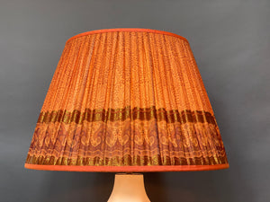 Burnt orange paisley with deep border silk lampshade