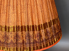 Load image into Gallery viewer, Burnt orange paisley with deep border silk lampshade