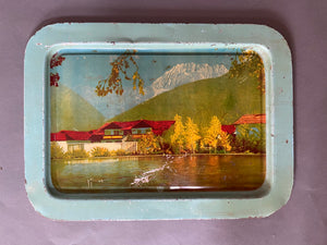 Vintage Indian Painted Tin Tray