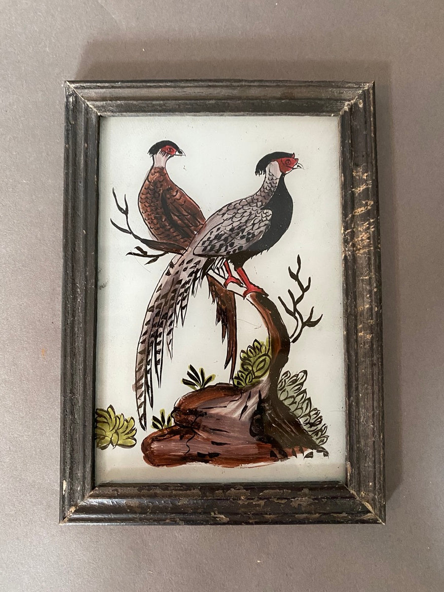 Pheasants Glass Painting