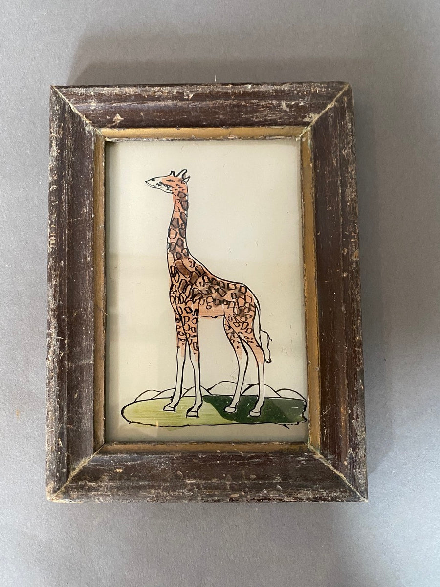 Giraffe Glass Painting