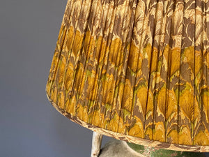Mustard Silk Saree Lampshade