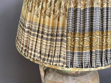 Load image into Gallery viewer, Cream & Ochre Silk Saree Lampshade