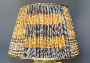 Cream & Ochre Silk Saree Lampshade