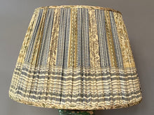 Load image into Gallery viewer, Sage Yellow and Grey silk saree lampshade