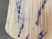 Load image into Gallery viewer, Shibori Indigo Pushka Silk Lampshade