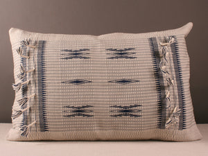 Cream Grey and Blue Cushion