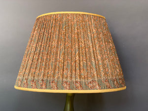 Old gold with teal and paisley silk lampshade