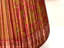 Load image into Gallery viewer, Pink and ochre paisley silk lampshade