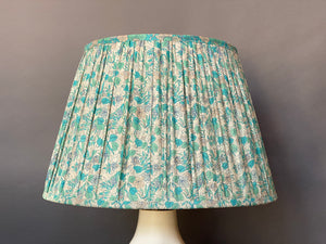 Aqua liberty silk lampshade