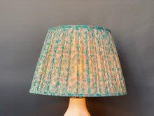 Load image into Gallery viewer, Aqua liberty silk lampshade