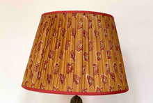 Load image into Gallery viewer, Indian yellow and red paisley silk Lampshade