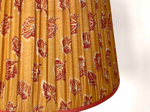 Indian yellow and red paisley silk Lampshade