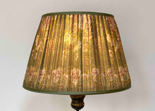 Load image into Gallery viewer, Green and mushroom silk Lampshade