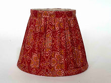 Load image into Gallery viewer, Crimson silk saree lampshade