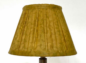 Yellow silk saree lampshade