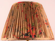 Load image into Gallery viewer, Old Gold Red and Black Silk Saree Lampshade