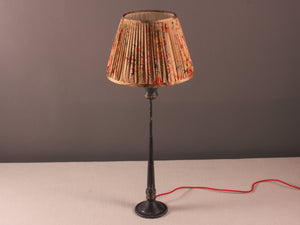 Old Gold Red and Black Silk Saree Lampshade