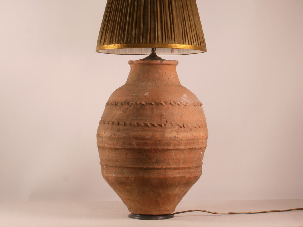 Turkish Terracotta Lamp Base