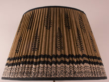 Load image into Gallery viewer, Black and Sand Silk Lampshade