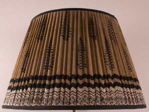 Black and Sand Silk Lampshade
