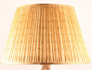 Yellow with umber pallu silk lampshade