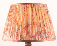 Load image into Gallery viewer, Coral with red and blue silk lampshade