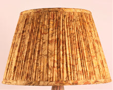 Load image into Gallery viewer, Ochre And Brown With Pallu Silk Lampshade
