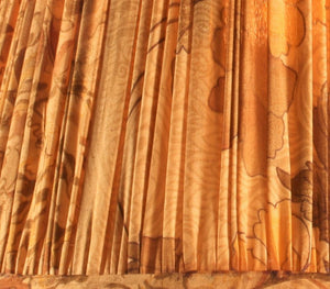 Ochre And Brown With Pallu Silk Lampshade