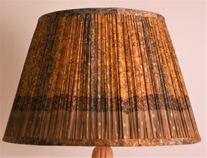 Saffron and Amber Silk Lampshade