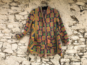 Multicoloured Patterned Kantha Coat