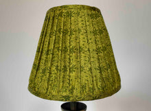 Load image into Gallery viewer, Acid green floral silk lampshade