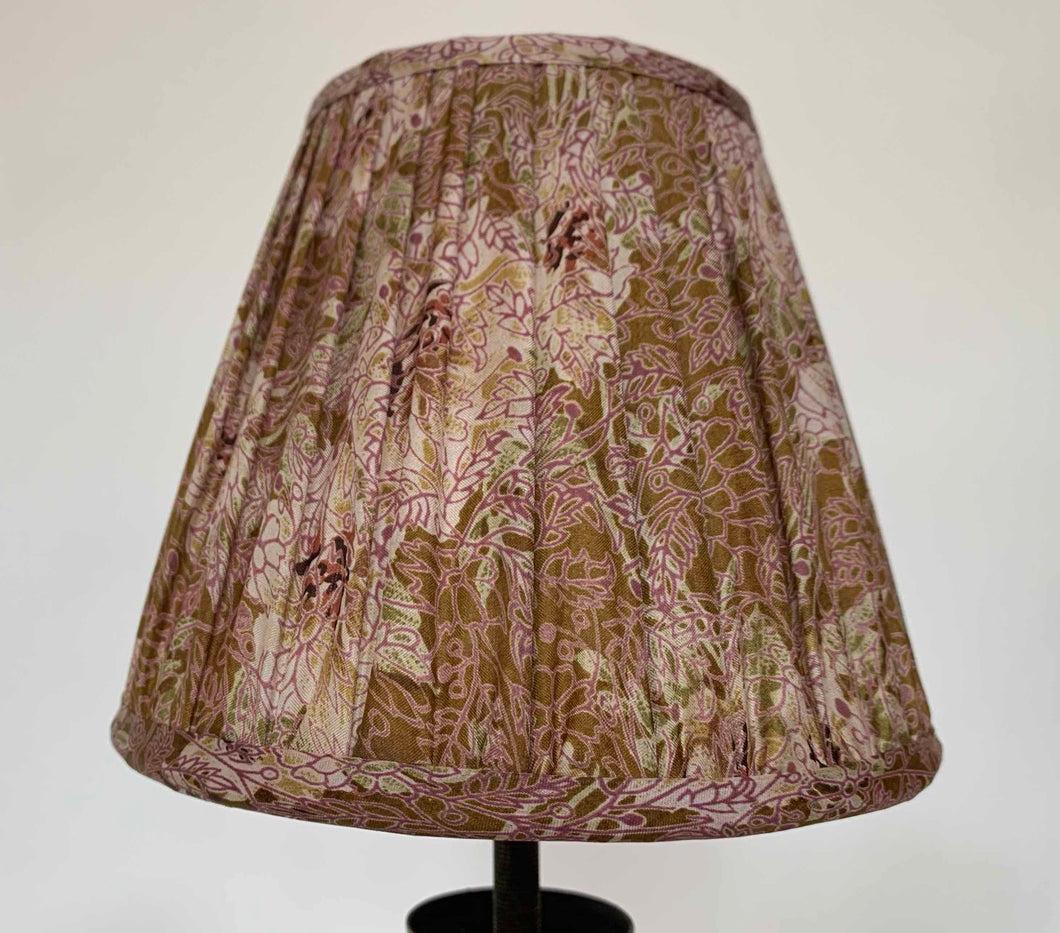 Pink and Cream Silk Lampshade