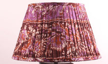 Load image into Gallery viewer, Brown And Purple Silk Lampshade