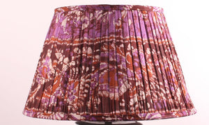 Brown And Purple Silk Lampshade