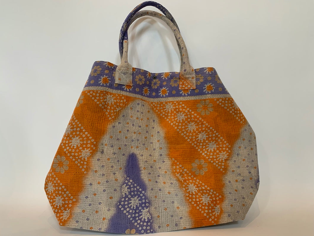 Orange and Violet Kantha Dog Bag