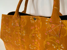 Load image into Gallery viewer, Orange kantha dog bag
