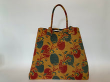 Load image into Gallery viewer, Saffron with red and teal kantha dog bag