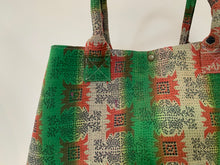 Load image into Gallery viewer, Bright Green and Pink Kantha Dog Bag