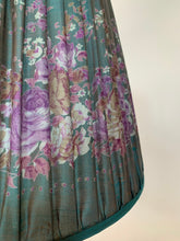 Load image into Gallery viewer, Shot peacock floral silk lampshade