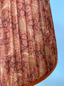 Orange and terracotta paisley silk lampshade