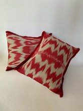 Load image into Gallery viewer, Ikat Cotton and Silk cushion