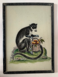 Monkey Large Glass Painting