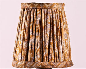 Mustard And Lilac Silk Lampshade