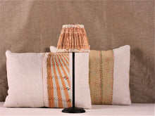 Load image into Gallery viewer, Cinnamon And Cream Silk Lampshade