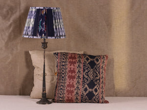 Lilac Black And White Silk Lampshade